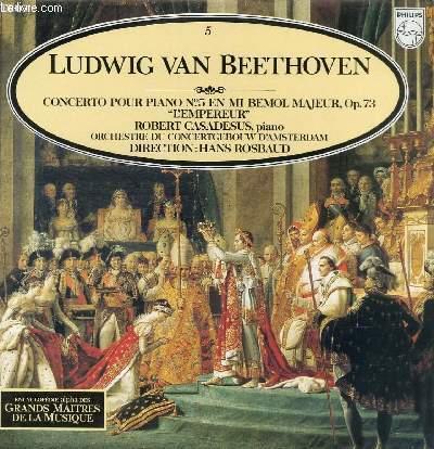 DISQUE VINYLE 33T CONCERTO POUR PIANO N°5 EN MI BEMOL MAJEUR, OP.73
