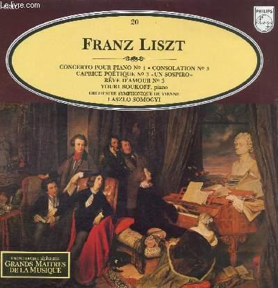 DISQUE VINYLE 33T CONCERTO POUR PIANO N°1, CONSOLATION N°3, CAPRICE POETIQUE N°3