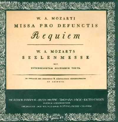 DISQUE VINYLE 33T MISSA PRO DEFUNCTIS, SEELENMESSE.