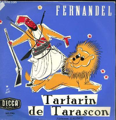 DISQUE VINYLE 33T TARTARIN DE TARASCON (ALPHONSE DAUDET) (EXTRAITS).