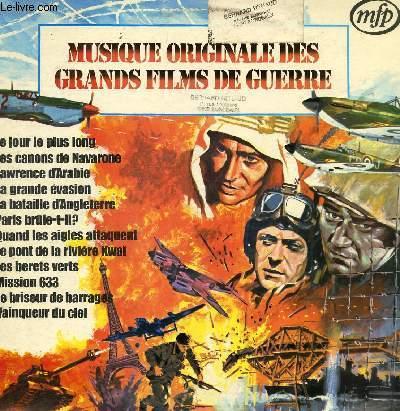 DISQUE VINYLE 33T LA PONT DE LA RIVIERE KWAI, LAWRENCE D4ARABIE, LES CANONS DE NAVARONE, LA BATAILLE D'ANGLETERRE, LE JOUR LE PLUS LONG, QUAND LES AIGLES ATTAQUENT, MISSION 633, LE BRISEUR DE BARRAGES, LA GRANDE EVASION, LES BERETS VERTS,VAINQUEUR DU CIEL