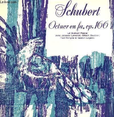 DISQUE VINYLE 33T OCTUOR EN FA MAJEUR, OP. 166.