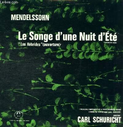 DISQUE VINYLE 33T LE SONGE D'UNE NUIT D'ETE,