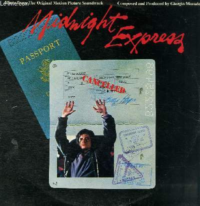 DISQUE VINYLE 33T CHASE, LOVE'S THEME, MIDNIGHT EXPRESS, ISTANBUL BLUES, THE WHEEL, ISTANBUL OPENING, CACOPHONEY, MIDNIGHT EXPRESS.