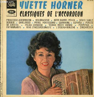 DISQUE VINYLE 33T PRINCESSE ACCORDEON, BOURRASQUE, BEER BARREL POLKA, GAILLARDO, PIANO FORTISSIMO, GERMAINE, ESPANA, PERLES DE CRISTAL, POLKA CHINOISE, VIENNE RESTE VIENNE, PERPETUA, ENTRAINANTE, REVE D'ACCORDEONISTE, L'OISEAU-MOUCHE, ZINGARESCA.