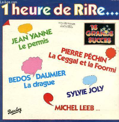 DISQUE VINYLE 33T LA CEGGAL ET LA FOORMI, ANATOLE, L'AFRICAIN, CATHERINE, I LOVE YOU OUBLIE-MOI LOULOU, VICTOR HUGO, LE TIERCE, POEME, LA DRAGUE, LES ROUTIERS, UN PATRON, LE PERMIS, S'EL VO PLAIT, LE PROVERBE, LE COMMENCEMENT DE LA FIN, L'INTERVIEW.
