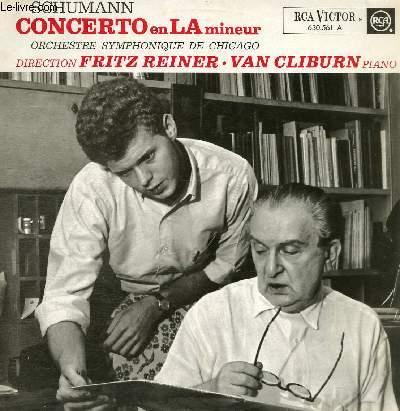 DISQUE VINYLE 33T CONCERTO EN LA MINEUR POUR PIANO ET ORCHESTRE.