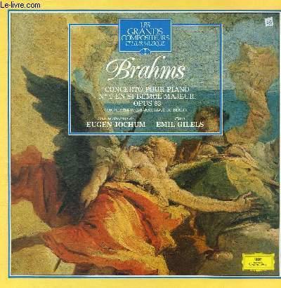 DISQUE VINYLE 33T CONCERTO POUR PIANO N°2 EN SI BEMOL MAJEUR OPUS 83.