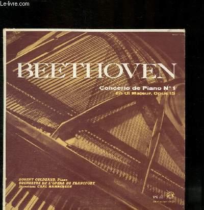 DISQUE VINYLE 33T CONCERTO DE PIANO N°1 EN UT MAJEUR, OPUS 15.