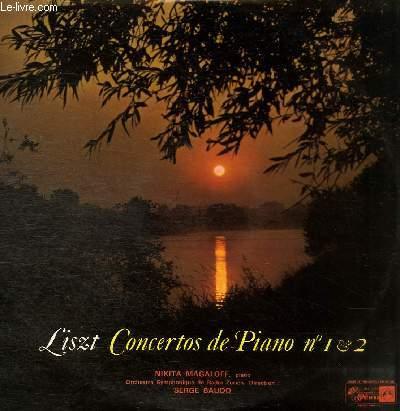 DISQUE VINYLE 33T CONCERTO DE PIANO N°1 EN MI BEMOL MAJEUR, CONCERTO DE PIANO N°2 EN LA MAJEUR.