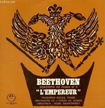 DISQUE VINYLE 33T CONCERTO DE PIANO N°5 EN MI BEMOL, OP. 73