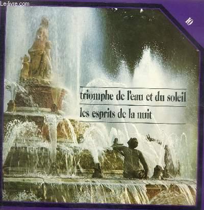 DISQUE VINYLE 33T TRIOMPHE DE L'EAU ET DU SOLEIL, LES ESPRITS DE LA NUIT.