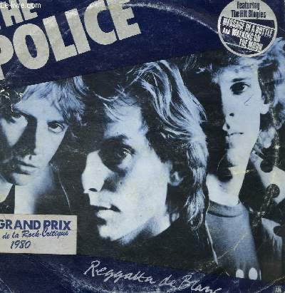 DISQUE VINYLE 33T WALKING ON THE MOON, ON ANY OTHER DAY, THE BED'S TOO BIG WITHOUT YOU, CONTACT, DOES EVERYONE STARE, NO TIME THIS TIME, MESSAGE IN A BOTTLE, REGGATTA DE BLANC, IT4S ALRIGHT FOR YOU, BRING ON THE NIGHT, DEATH WISH.