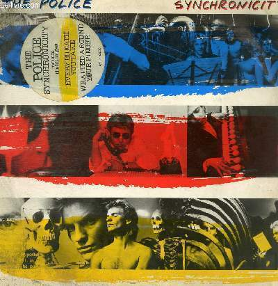 DISQUE VINYLE 33T SYNCHRONICITY I, WALKING IN YOUR FOOTSTEPS, O MY GOD, MOTHER, MISS GRADENKO, SYNCHRONICITY II, EVERY BREATH YOU TAKE, KING OF PAIN, WRAPPED AROUND YOUR FINGER, TEA IN THE SAHARA.