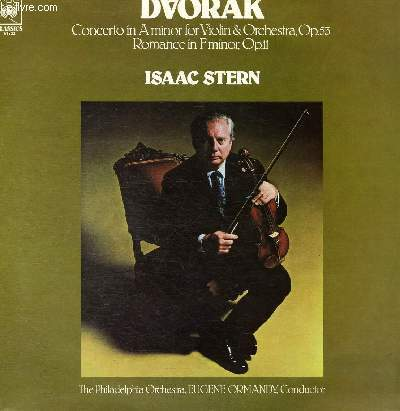 DISQUE VINYLE 33T COCNERTO IN A MINOR FOR VIOLON AND ORCHESTRA.