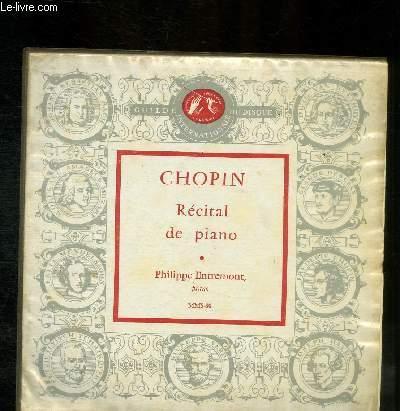 DISQUE VINYLE 33T RECITAL DE PIANO.