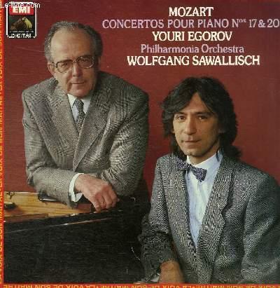 DISQUE VINYLE 33T CONCERTO N°14 EN  COL MAJEUR POUR PIANO ET ORCHESTRE, CONCERTO N°20 EN RE MINEUR POUR PIANO ET ORCHESTRE.