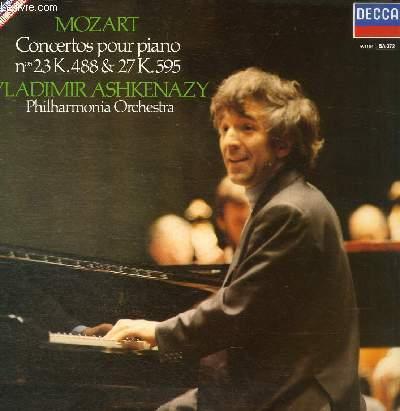 DISQUE VINYLE 33T CONCERTO POUR PIANO ET ORCHESTRE N°23 EN LA MAJEUR, CONCERTO POUR PIANO ET ORCHESTRE N°27 EN SI BEMOL MAJEUR.