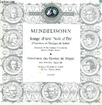 DISQUE VINYLE 33T LE SONGE D'UNE NUIT D'ETE, OUVERTURE DES GROTTES DE FINGAK.