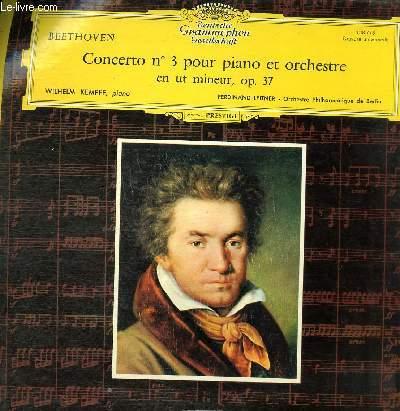 DISQUE VINYLE 33T CONCERTO N°3 POUR PIANO ET ORCHESTRE EN UT MINEUR, OP.37.