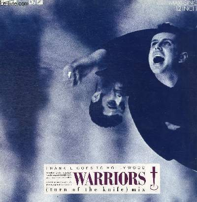 DISQUE VINYLE 33TWARRIORS (TURN OF THE KNIFE MIX), WARRIORS (RETURN), WARRIORS (END).