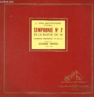 DISQUE VINYLE 33T SYMPHONIE N°7 EN LA MAJEUR, OP.92.