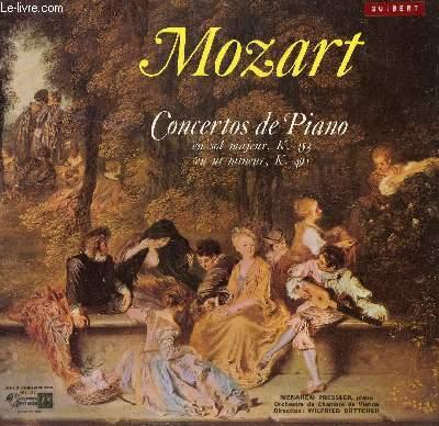 DISQUE VINYLE 33T CONCERTO DE PIANO N°17 EN SOL MAJEUR, CONCERTO DE PIANO N°24 EN UT MINEUR.