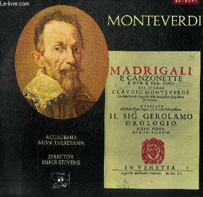DISQUE VINYLE 33T IXTH BOOK OF MADRIGALS.