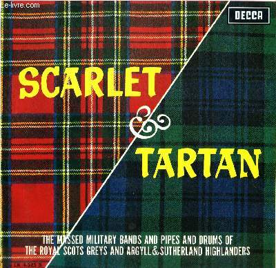 DISQUE VINYLE 33T FANFARE FOR A DEDICATION, MARCH AND COUNTER MARCH, ROBBIE BURNS MEDLEY, DRUMMERS CALL, HIGHLAND DANCE SET, COLONEL BOGEY MARCH, MARCH SCOTTISH EMBLEM, PAST DAYS WITH THE GREYS, PIPES AND DRUMS MARCH DISPLAY, HOLYROOD.....