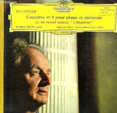 DISQUE VINYLE 33T CONCERTO N°5 POUR PIANO ET ORCHESTRE EN MI BEMOL MAJEUR,