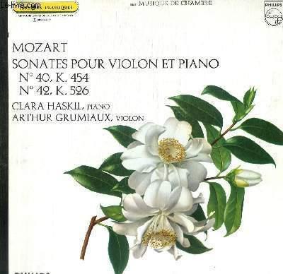 DISQUE VINYLE 33T SONATES POUR VIOLON ET PIANO.