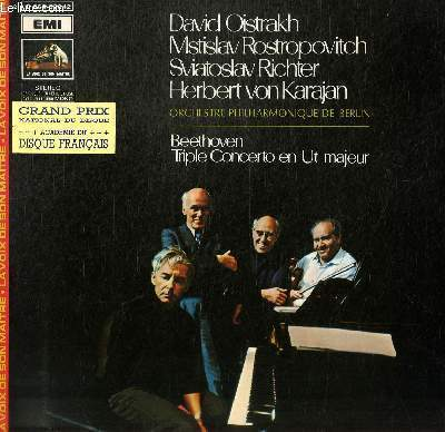 DISQUE VINYLE 33T CONCERTO EN UT MAJEUR POUR PIANO, VIOLON, VIOLONCETTE ET ORCHESTRE.