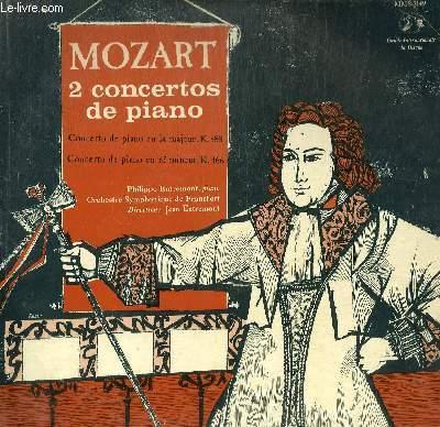 DISQUE VINYLE 33T CONCERTOS POUR PIANO ET ORCHESTRE EN RE MINEUR, EN LA MAJEUR.