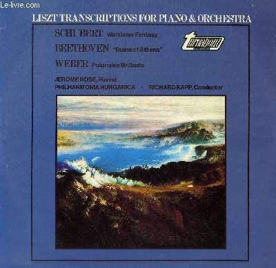 DISQUE VINYLE 33T TRANSCRIPTIONS FOR PIANO AND ORCHESTRA.
