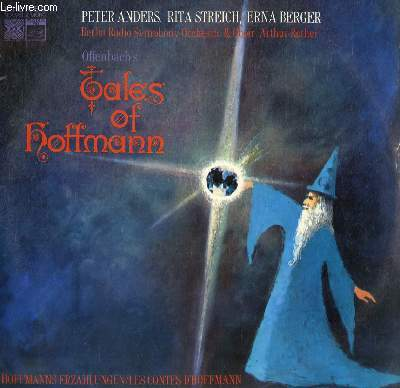 DISQUE VINYLE 33T TALES OF HOFFMANN SUNG IN GERMAN.