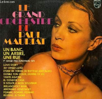 DISQUE VINYLE 33T UN BANC UN ARBRE UNE RUE, LOVE STORY