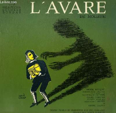 DISQUE VINYLE 33T L'AVARE.