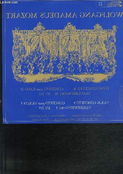 DISQUE VINYLE 33T CONCERTO POUR PIANO ET ORCHESTRE, CONCERTO POUR VIOLON ET ORCHESTRE.