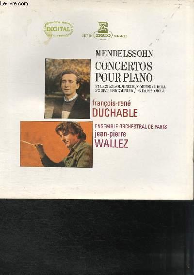 DISQUE VINYLE 33T CONCERTO POUR PIANO N°1, CONCERTO POUR PIANO N°2.
