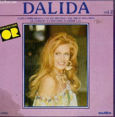DISQUE VINYLE 33T DALIDA VOLUME 2-COLLECTION D'OR