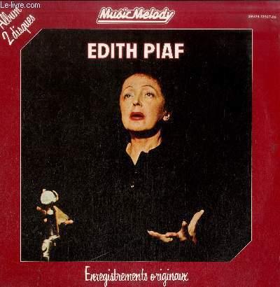 DISQUE VINYLE 33TEDITH PIAF ENREGISTREMENTS ORIGINAUX-ALBUM 2 DISQUES