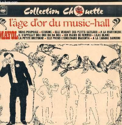 DISQUE VINYLE 33T L'AGE D'OR DU MUSIC-HALL