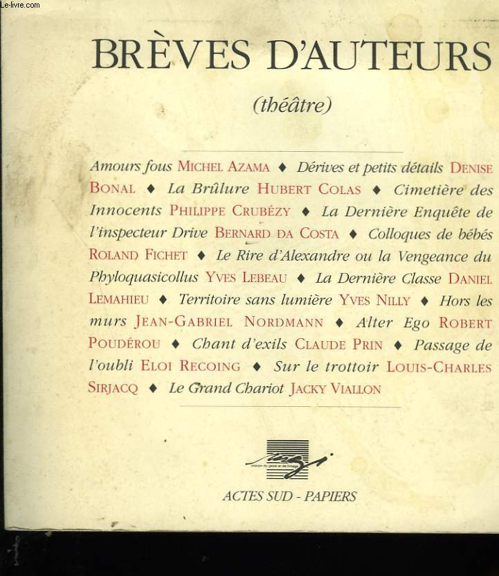 BREVES D'AUTEURS.