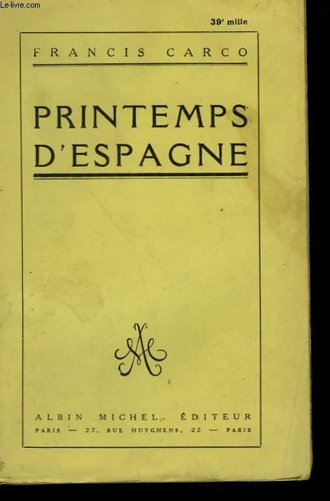 PRINTEMPS D'ESPAGNE.