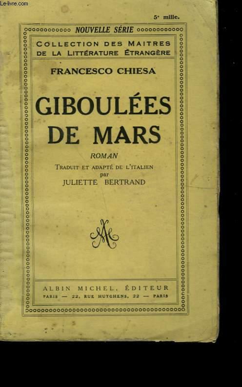 GIBOULEES DE MARS.
