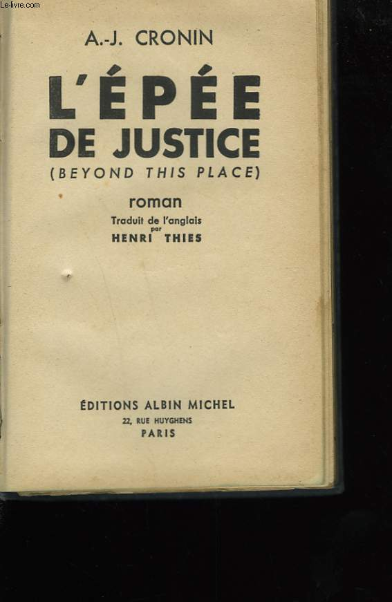 L'EPEE DE JUSTICE.