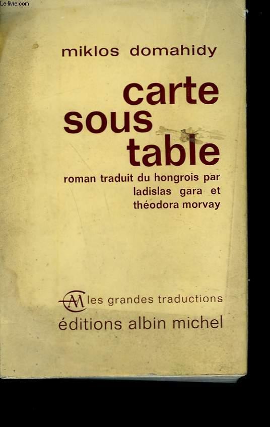 CARTE SOUS TABLE.