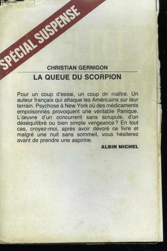 LA QUEUE DU SCORPION.