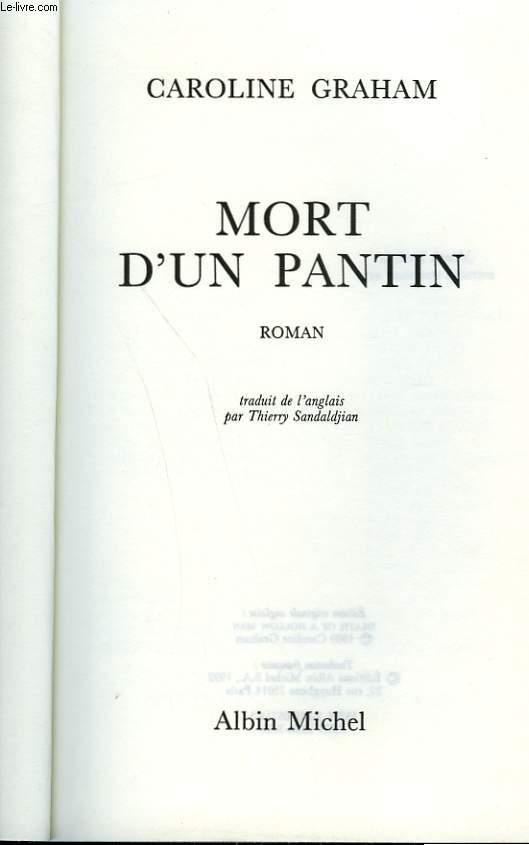 MORT D'UN PANTIN.