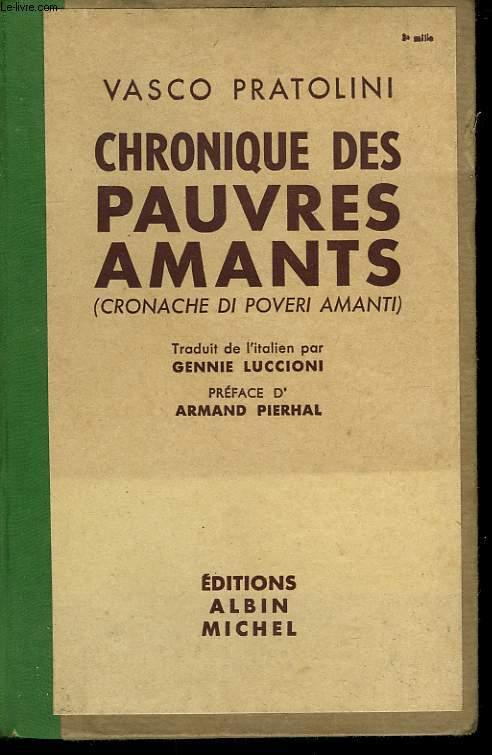 CHRONIQUE DES PAUVRES AMANTS.